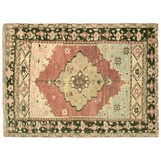 "Vintage Anatolian Turkih Rug, 5'4"" x 7'4"""