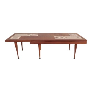 Mid-Century Modern Tile-Tip Pivot Coffee Table
