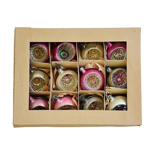 Vintage Fancy European Christmas Ornaments w/Box - Set of 12 - Image 7 of 8