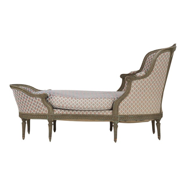 Image of French Louis XVI Style Chaise Lounge, Circa 1900