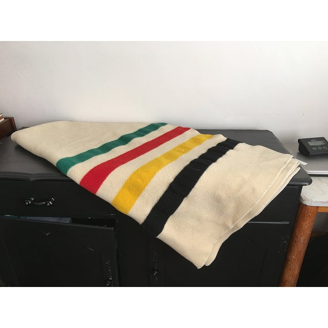 Image of Vintage Four Band Wool Blanket