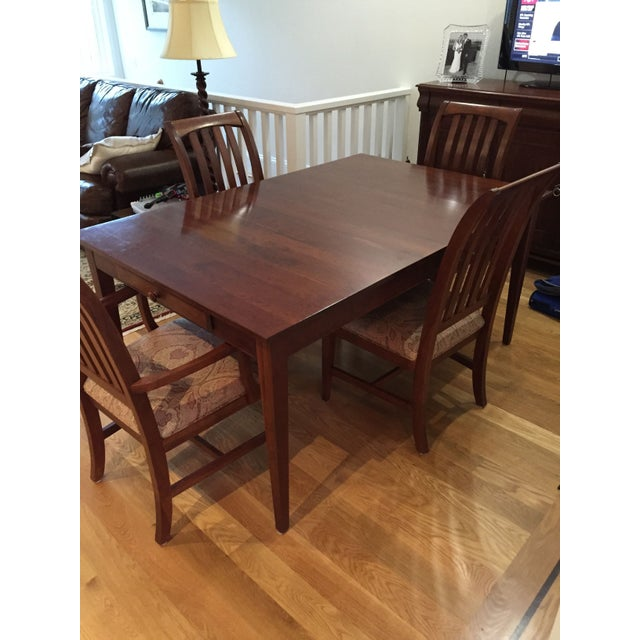Ethan Allen Dining Room Set Table 6 Chairs Chairish