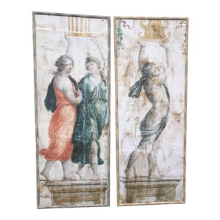 Greek Wall Decoration Panels - A Pair