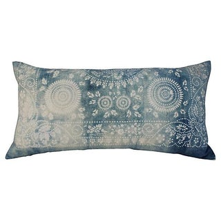 Faded Indigo Batik Body Pillow