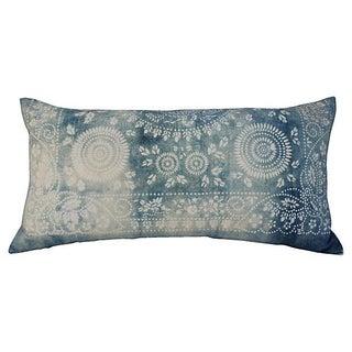 Faded Indigo Batik Body Pillow