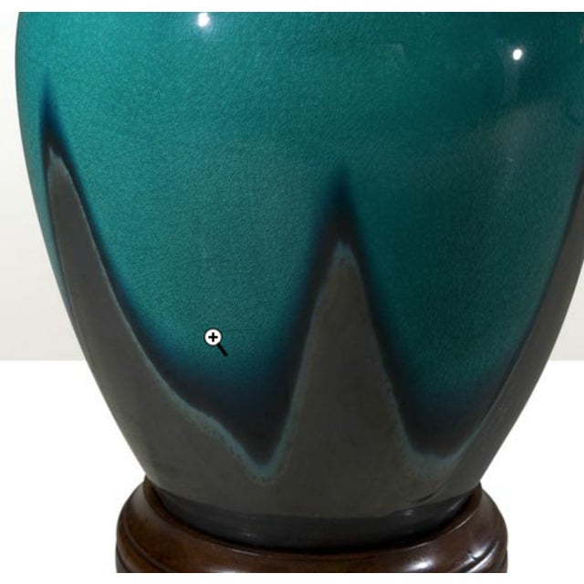Image of Peacock Blue Studio Vases - A Pair