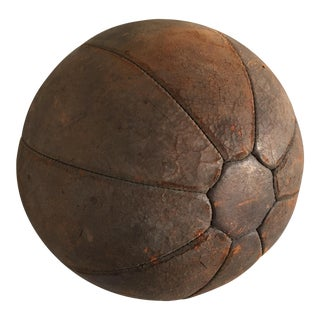 Antique Leather Medicine Exercise Ball