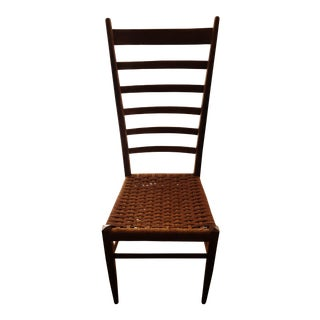Rush Seat Ladderback Chair After Gio Ponti