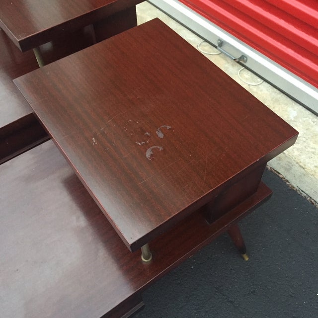 Mid-Century Mahogany End Tables - A Pair - Image 6 of 11