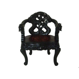 Japanese Meiji Dragon Export Arm Chair