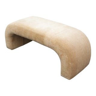 Vintage Contemporary Waterfall Style Bench