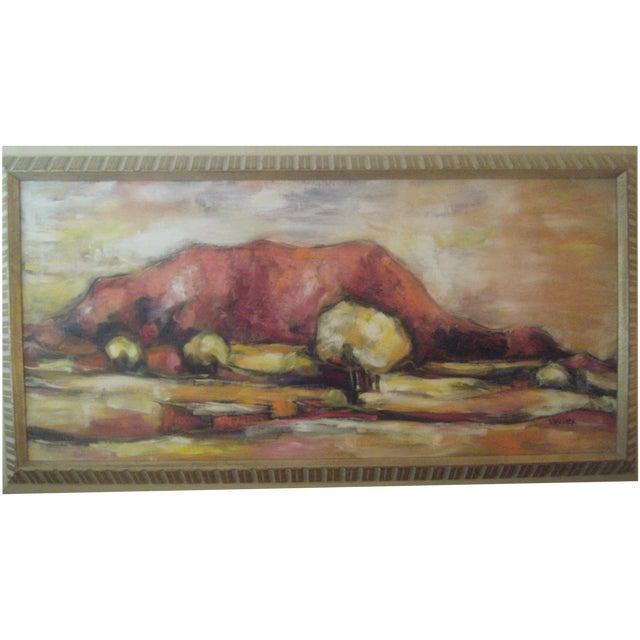 Original Vintage Oil Painting of Desert Landscape - Image 1 of 8