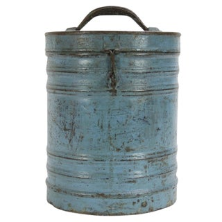 Aged Blue Storage Container