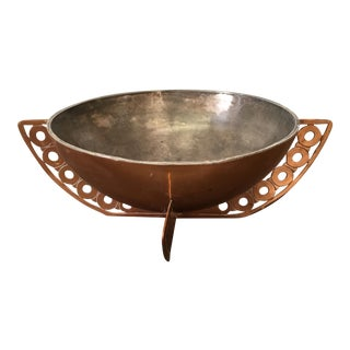 Mid-Century Polished Copper Bowl by Taxco Mexico