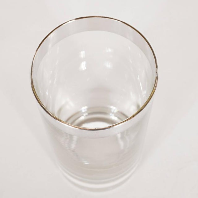 Mid-Century Sterling Silver Overlaid Highball Glasses by Dorothy Thorpe - Image 4 of 6