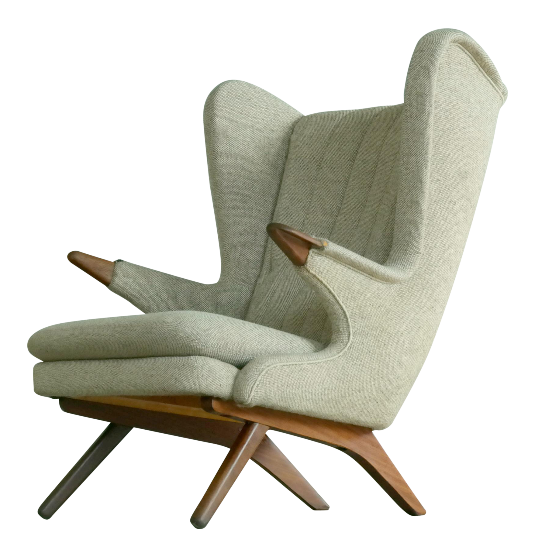 Sven Skipper 1960s Papa Bear Chair Model 91 In The Style Of Hans Wegner