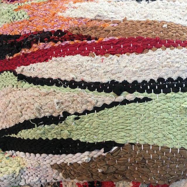 Multi Color Moroccan Floor Pouf - Image 3 of 4