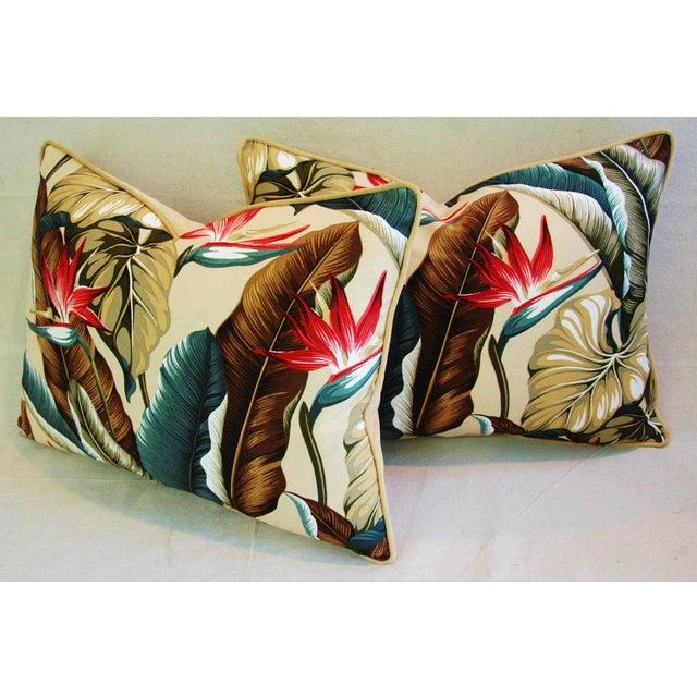 Custom Tropical Bird of Paradise Pillows - A Pair - Image 7 of 11