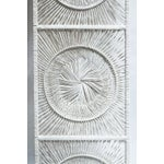 Image of Boho Chic White Wicker Wall Decor
