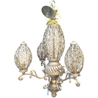 Lam Lee Filigree Cage Style Chandelier