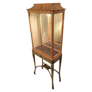 Chinoiserie Lighted Curio Cabinet