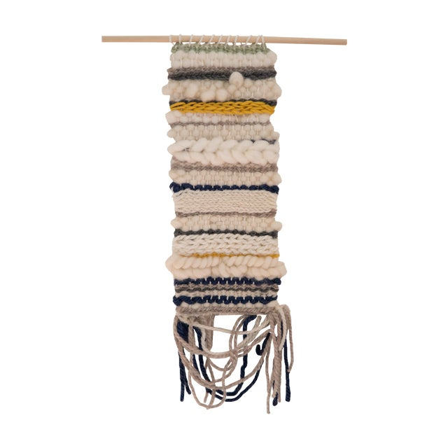 Image of Small Ream Striped Woven Wall Hanging