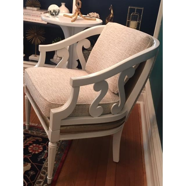 Vintage Cream & Gold Chair - Image 2 of 4