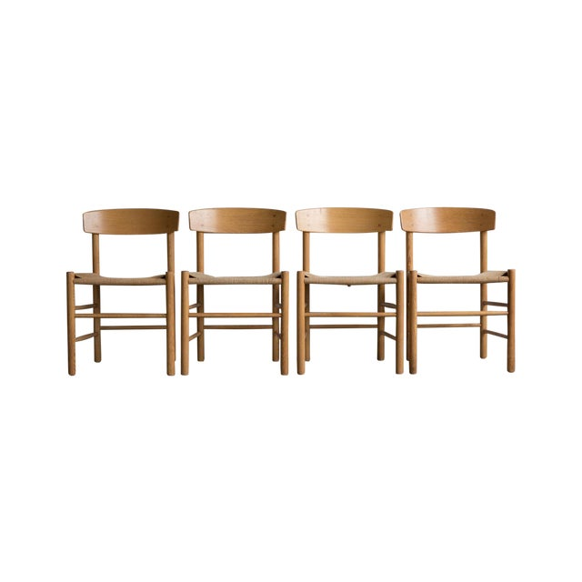 Image of Borge Mogensen J-39 Dining Chairs - Set of 4