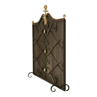 Steel & Brass Mesh Fireplace Screen