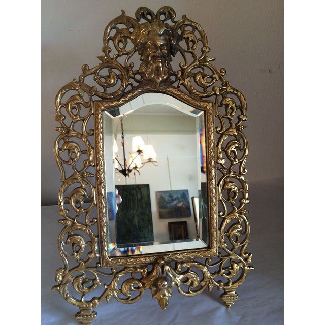 Image of Bradley & Hubbard Brass Wall or Tabletop Mirror
