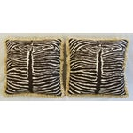 Image of Brunschwig & Fils Zebra Linen Pillows - Pair