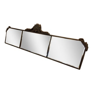 French Wood Gesso 3 Panel Mirror