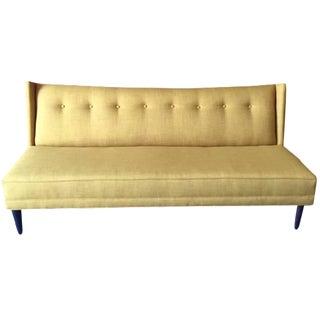 Mid-Century Style Custom Mustard Sofa