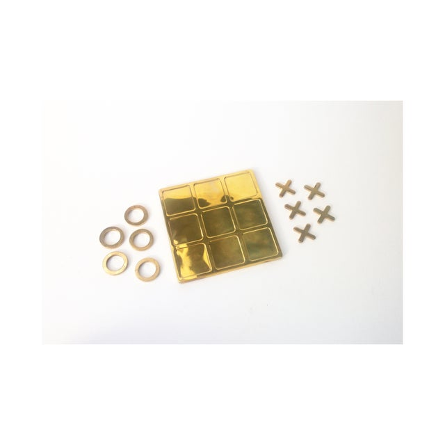 Image of Vintage Brass Tic Tac Toe Game
