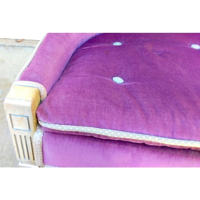 Vintage Lilac Slipper Chair - Image 6 of 8