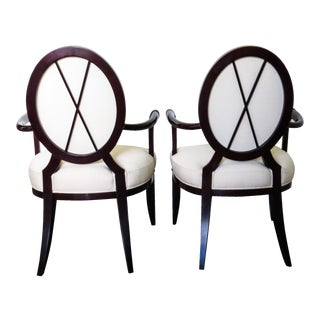 Baker by Barbara Barry Armed Dining Chairs - A Pair