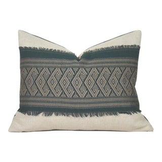 Green Diamond Motif Pillow Cover