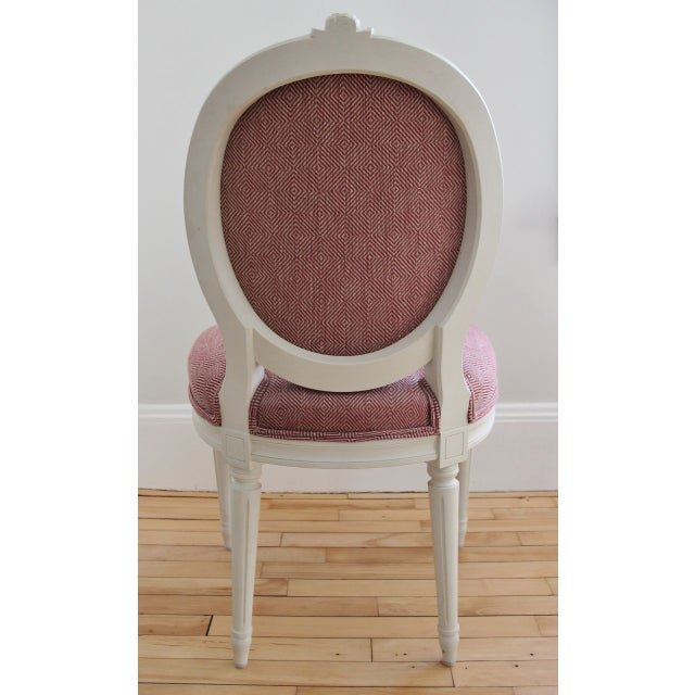 Swedish Gustavian Style Side Chairs - A Pair - Image 4 of 8