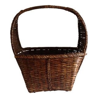 Rustic Woven Wicker Basket