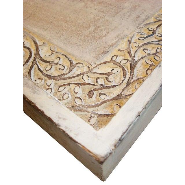 Image of Large Teak Carved Tray