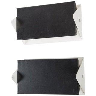 1950s J.J.M. Hoogervorst Black & White Wall Lights for Anvia - A Pair