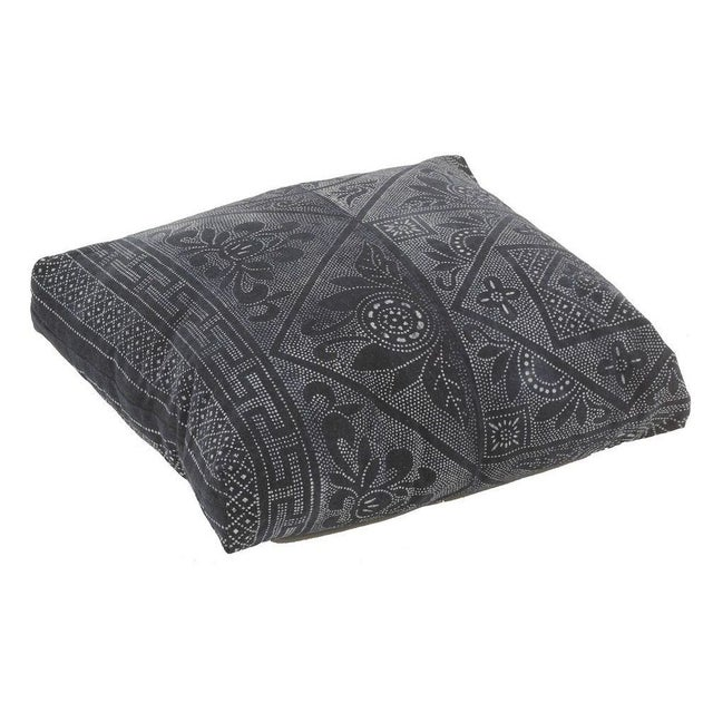 Antique Batik Indigo Floor Pillow - Image 1 of 4