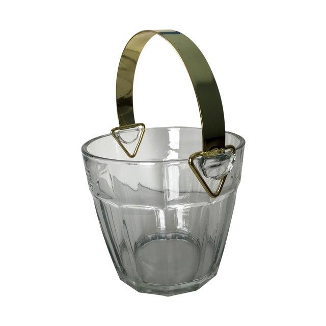 Vintage Glass & Brass Ice Bucket - Image 1 of 6