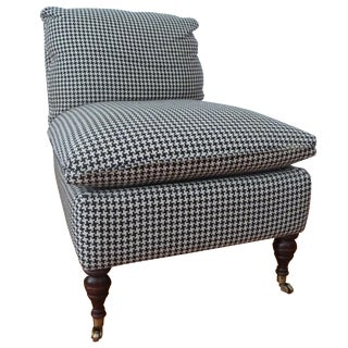 HD Buttercup Slipper Chair in Houndstooth