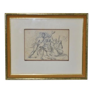 "18th Century Venetian Old Master ""A Group of Figures"" Drawing"