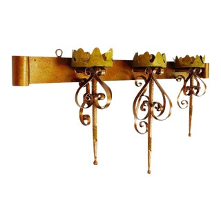 Large Wrought Iron Candle Holder Sconce