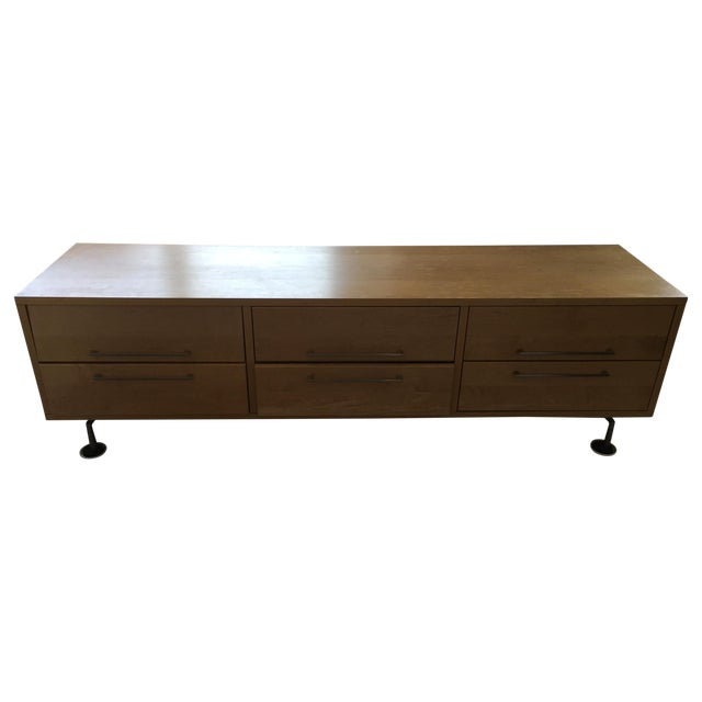 Image of Room and Board Wooden Media Credenza