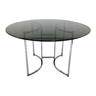 Vintage Mid Century Modern Glass & Chrome Table