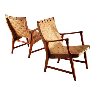 Elias Svedberg Pair of Chairs for Nordiska Kompaniet, Sweden, 1940s