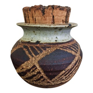 Rustic Ceramic Pot With Cork